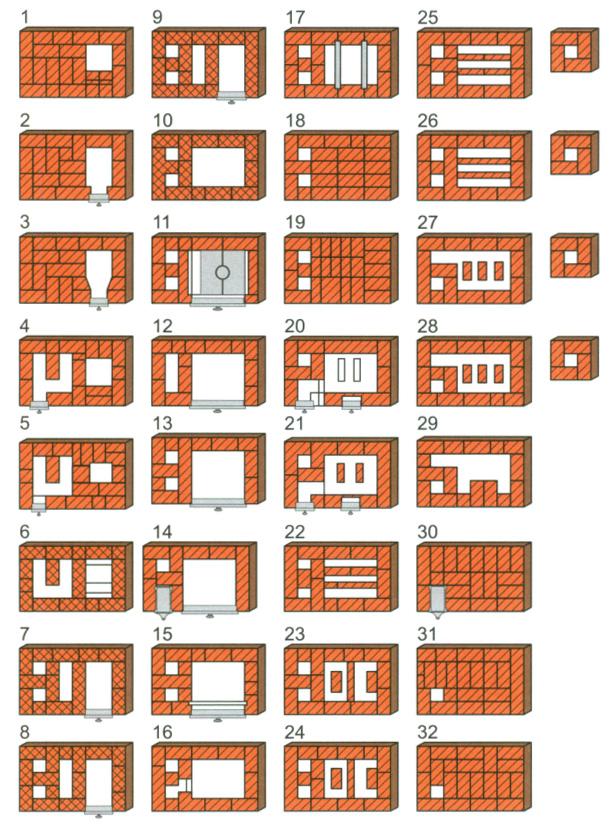 Пример печи для обогрева помещения с варочной плитой.