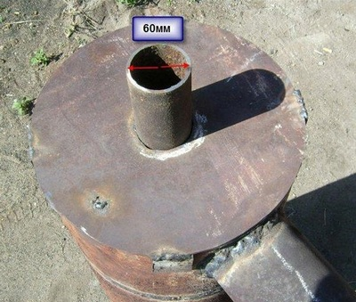 Дымоход для буржуйки из газового баллона дымоход 120 оцинковка