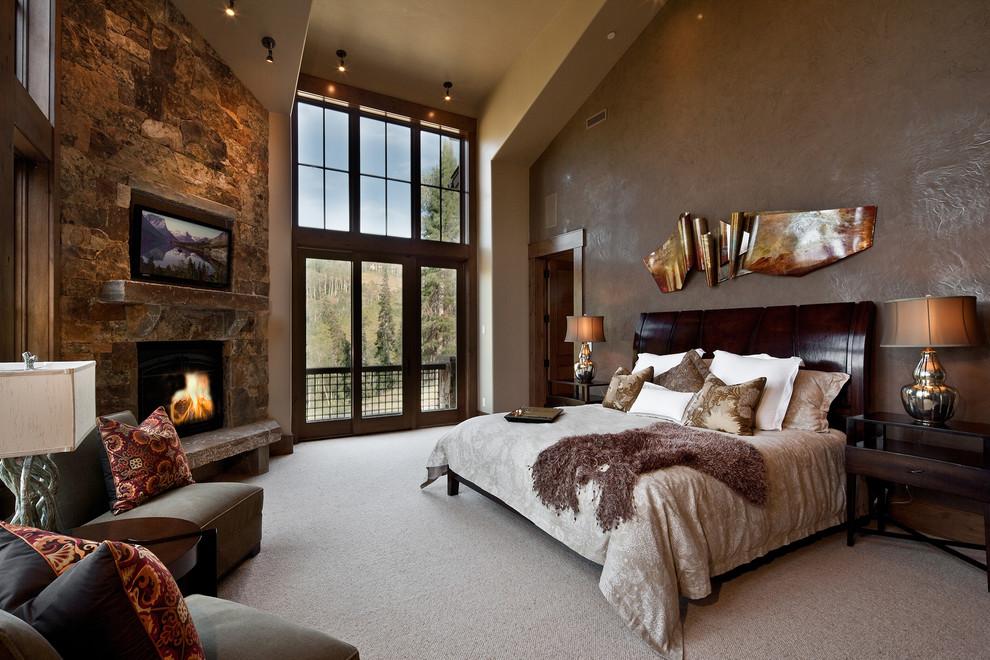 Спальня с электрокамином электрокамины в ступино