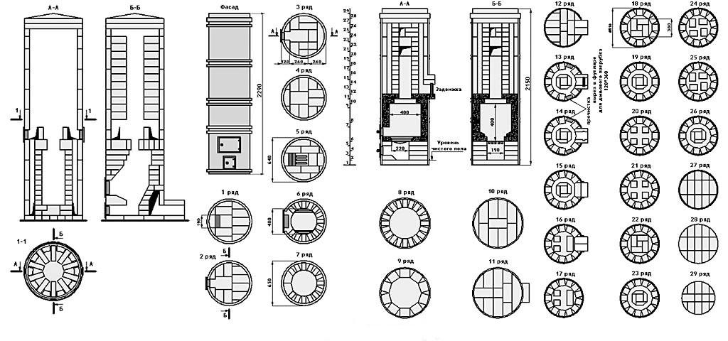 Схема и порядовка печи Грум-Гржимайло
