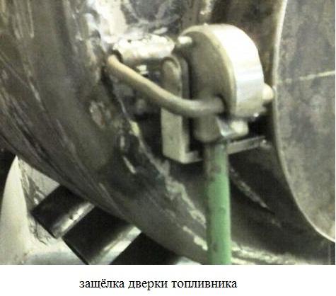 защёлка топливника